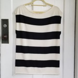NY & Co Striped Wool Blend Sleeveless Sweater